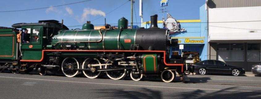 Qld Rail history celebrating 150 years Steam train